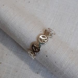 925 silver peace sign ring